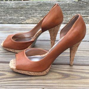 Jessica Simpson Saddle Tan Genuine leather pumps